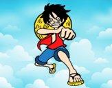 Luffy batendo