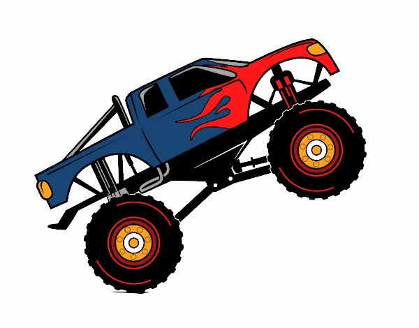 desenho de monster truck fire 360 pintado e colorido por usuário não