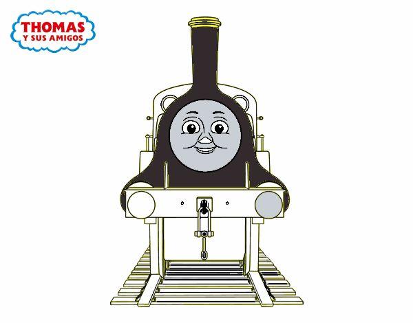 Desenho de Emily de de Thomas e seus amigos pintado e colorido por ...