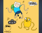 Finn e Jake ouvir música
