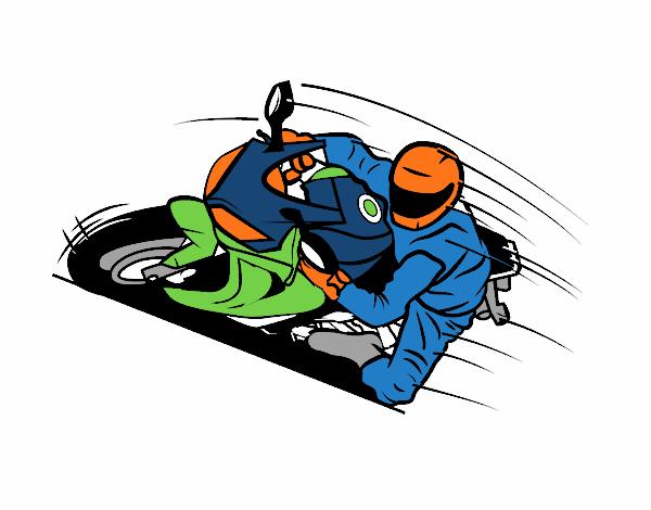 desenho de moto de corrida pintado e colorido por usuário não
