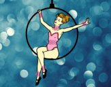 Desenho Mulher trapezista pintado por luanah