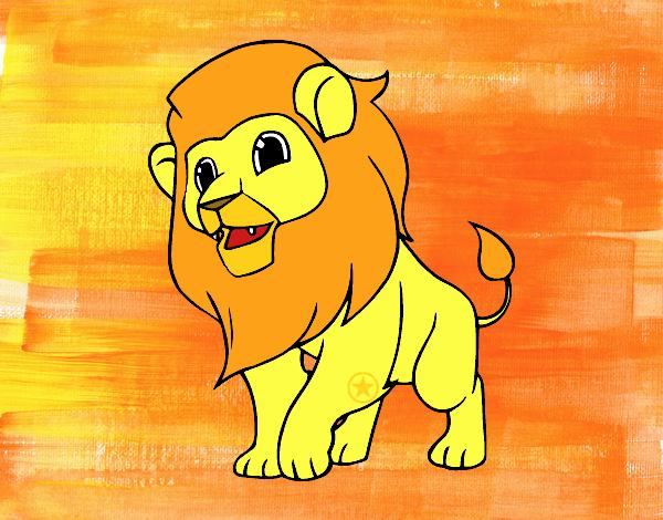 Desenho O rei da selva pintado por luanah
