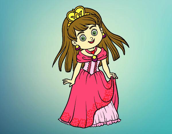 Desenho Princesa encantadora pintado por luanah