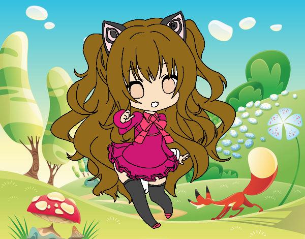 Desenho SeeU Chibi Vocaloid pintado por Anna_blogs
