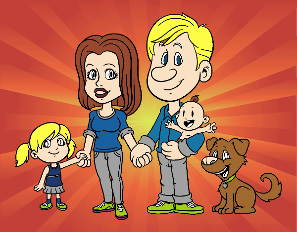 Desenho Uma família unida pintado por Anna_blogs