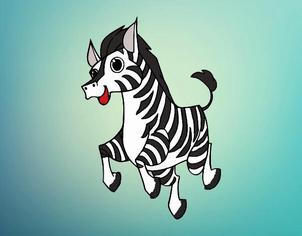 Desenho Uma Zebra pintado por luanah