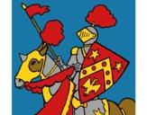 Desenho Cavaleiro a cavalo pintado por LadyMcm
