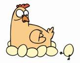 A incubação de galinha