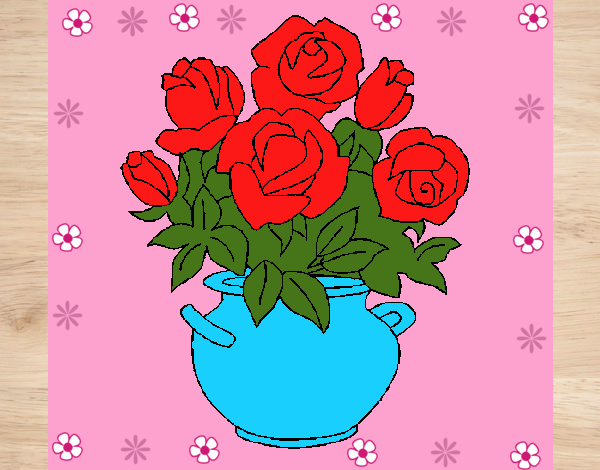 Desenho Jarro de flores pintado por Mayumicris