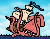 Desenho Kraken pintado por Craudia