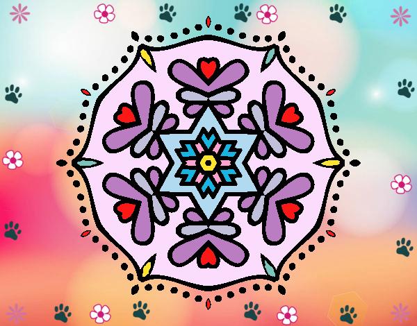 Desenho Mandala simétrica pintado por Mayumicris