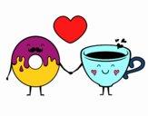 O amor entre donut e chá
