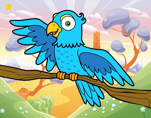 Desenho Papagaio en liberdade pintado por Mayumicris