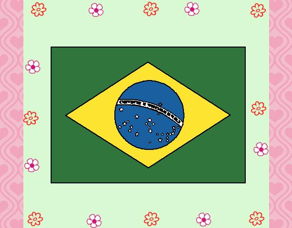 Desenho Brasil pintado por Mayumicris