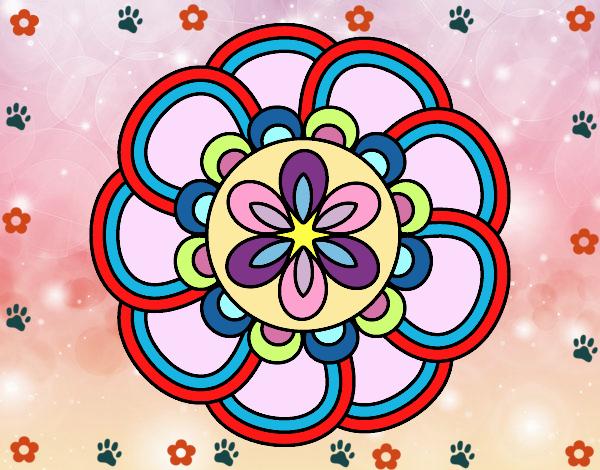 Desenho Mandala pétalas pintado por Mayumicris