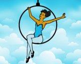 Desenho Mulher trapezista pintado por Jujuli