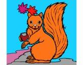 Desenho Esquilo pintado por rosalina