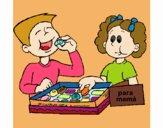 A comer ricos bombons
