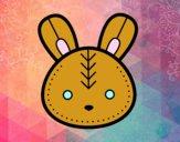Cara do coelhinho da Páscoa