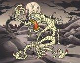 Desenho Mumia malvada pintado por mah10