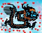 Desenho Signo do dragão pintado por Nanolobo