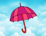 Desenho Um guarda-chuva pintado por Nathyye