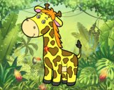 Uma girafa