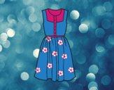 Desenho Vestido do verão pintado por Nathyye