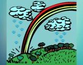 Desenho Arco-íris pintado por Natani