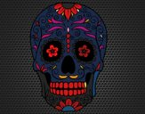 Desenho Caveira mexicana pintado por issaDJ