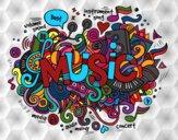 Desenho Colagem musical pintado por Nanda12743