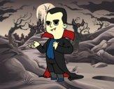 Disfarce de vampiro do Halloween