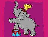 Desenho Elefante pintado por mah10