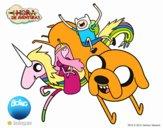 Desenho Finn e Jake com a princesa jujuba pintado por S8IGNORe