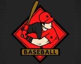 Desenho Logo de basebol pintado por Miqueias