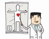 Médico explicando