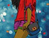 Desenho Menina com saco pintado por Kapytu