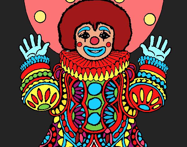 Desenho Palhaço disfarçado pintado por mah10