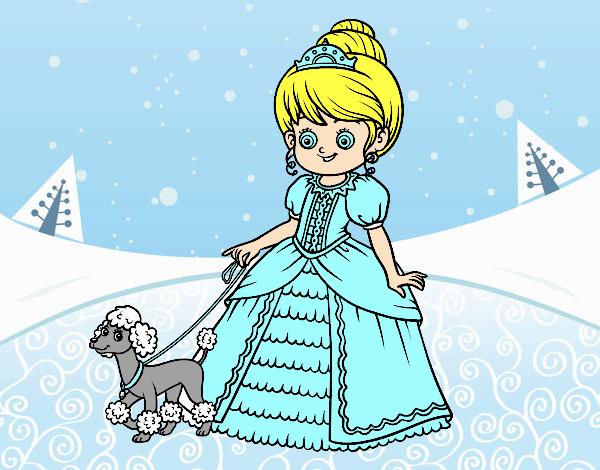 Princesa com cachorro