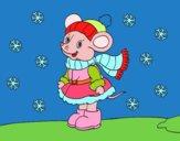 Ratita abrigada de Natal