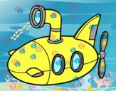 Desenho Submarino pintado por lucashenri