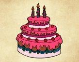 Desenho Torta de Aniversário pintado por Nanda12743