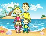 Desenho Uma família pintado por Sonica