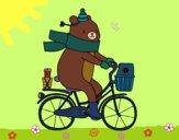 Desenho Urso portador pintado por AndressaBR
