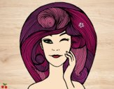 Desenho Volume de penteado pintado por Natani