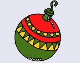 Desenho Bola de natal pintado por Craudia