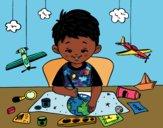 Desenho Criatividade das crianças pintado por aulo