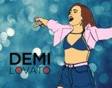Desenho Demi Lovato Concerto pintado por aninha8888