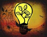 Luz lâmpada ecológica
